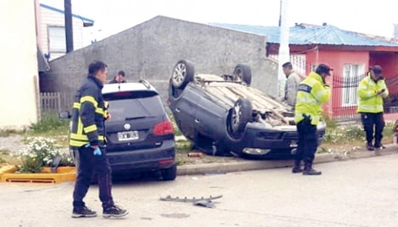 Los autos que colisionaron.