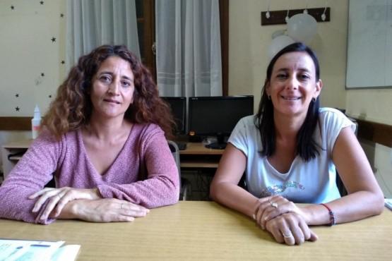 Mabel Quinteros y Mariana Moles, supervisoras de nivel primario en Región 3.