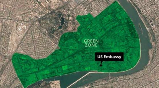 Zona verde de Bagdad.