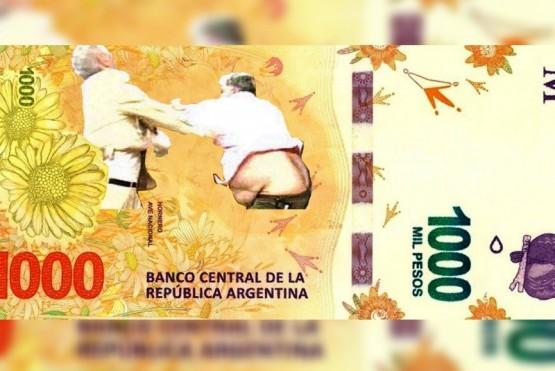 Mauro Viale y Alberto Samid en los billetes de mil pesos.