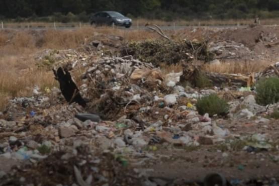 Basural en Mendoza donde fue hallado el hombre.