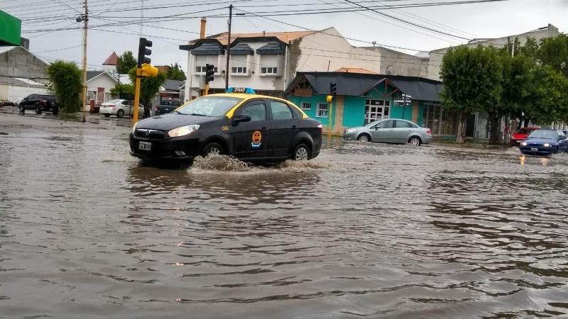 Calles inundadas. (C.G)