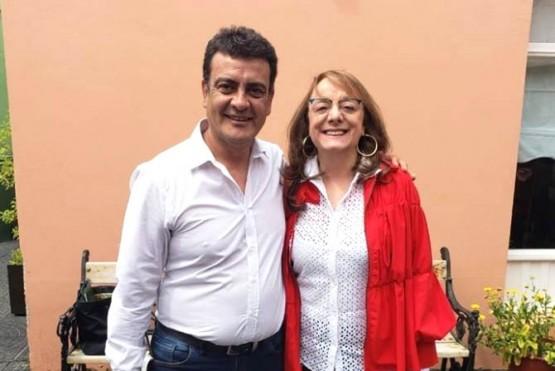 Gustavo González junto a la gobernadora Alicia Kirchner.