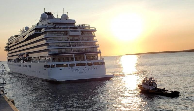 El crucero Viking Júpiter.