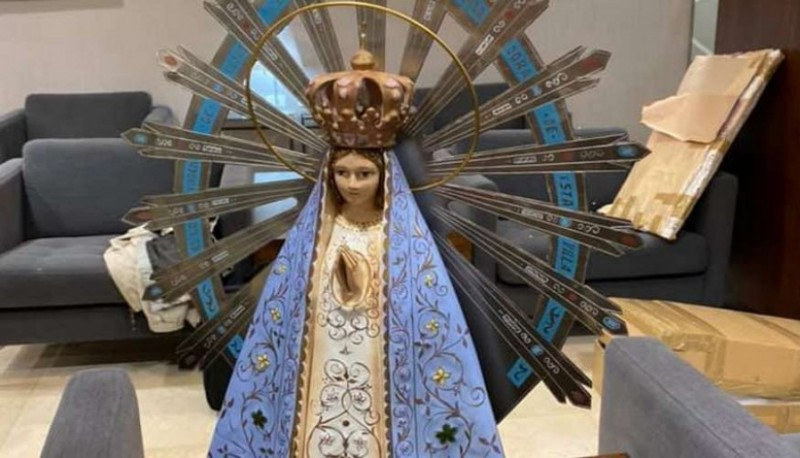 La Virgen de Luján rumbo a la Antártida