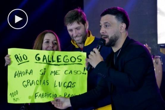 Paola y Fabricio junto a Sugo.