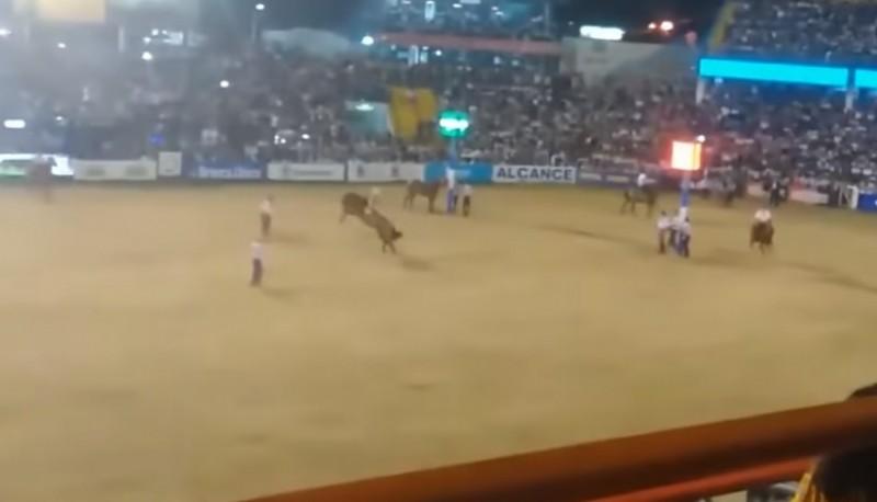 Cossutta en el momento que jineteaba el caballo.