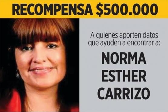 Recompensa a quien aporte datos sobre el paradero de Norma Carrizo.