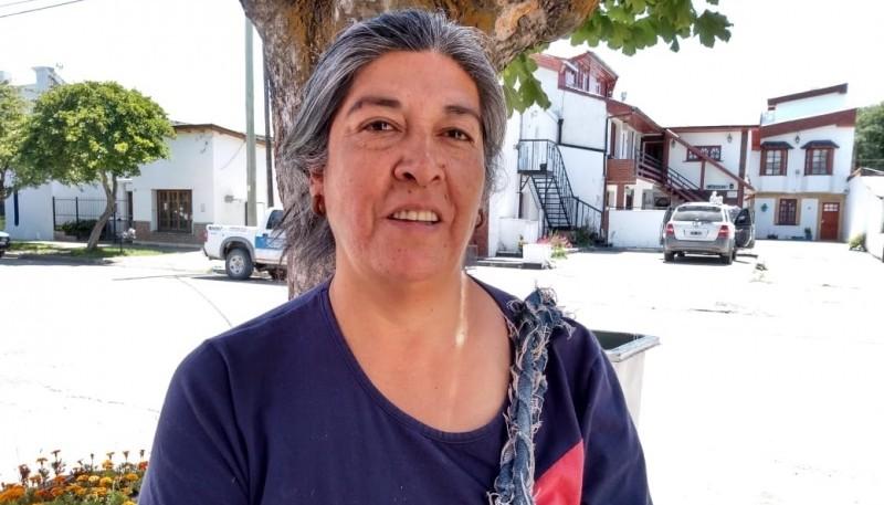 Alicia Gajardo, nueva longko de las comunidades de Lago Rosario y Sierra Colorada.eleccione