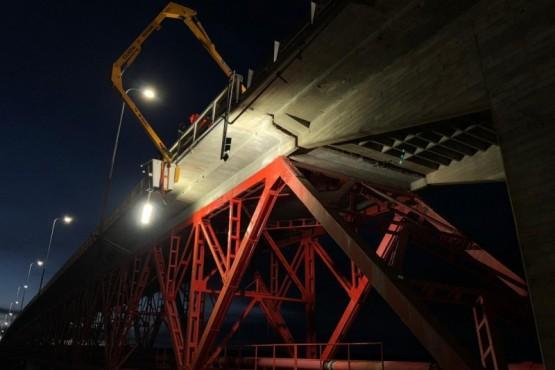 Terminó la reparación del puente y no habrá más corte