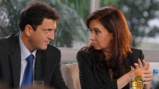 Sergio Massa y Cristina. (Archivo)