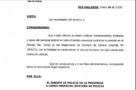 Cuatro comisarías de Río Gallegos cambian de jefes