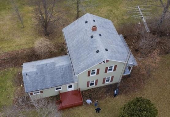 La casa donde fue hallado sin vida: Foto: Gentileza Daily Mail