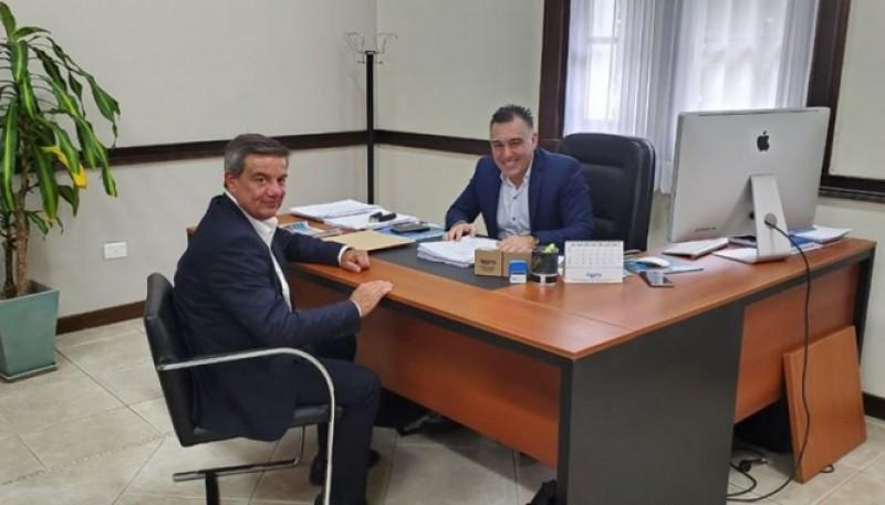 El presidente del Concejo Deliberante, Sergio Viotti, junto al jefe de Gabinete, Leonardo Álvarez.
