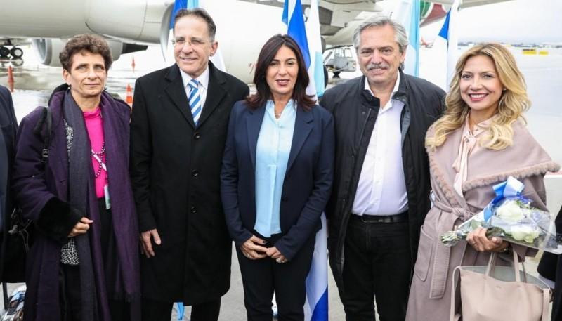 El presidente Fernández llegó a Israel.