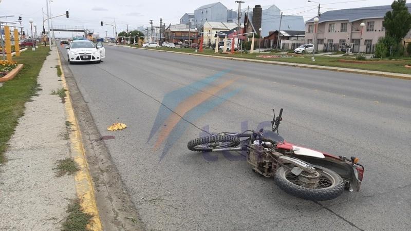 Escena del accidente.