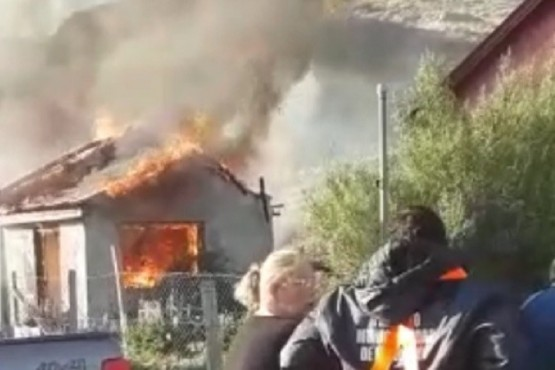 Fuego en la vivienda.