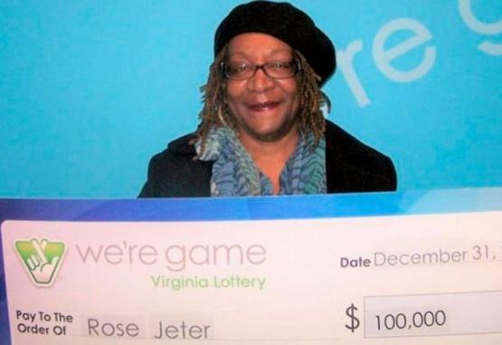 Rose Jeter, la ganadora de la lotería.