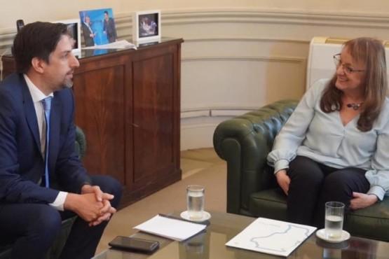 Alicia Kirchner y el Ministro de Educación.