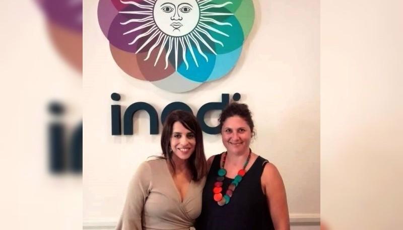 Donda (izquierda) propuso a Vivanco (derecha) como delegada del INADI.