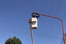 Servicios Públicos trabaja en el recambio de luminarias en El Calafate