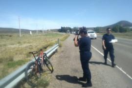 Una mujer atropelló a un hombre que circulaba en bicicleta