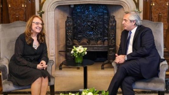 Alicia Kirchner y Alberto Fernández. (Archivo)