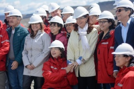 El mensaje de Cristina tras la visita a las represas