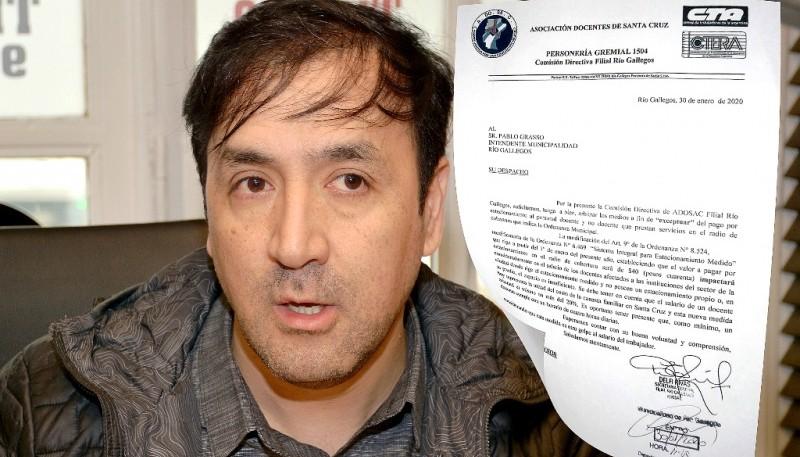 La nota fue enviada al intendente Pablo Grasso.