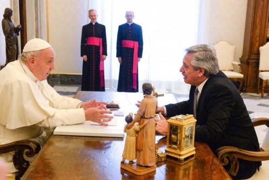 El Papa Francisco y el Presidente Fernández.