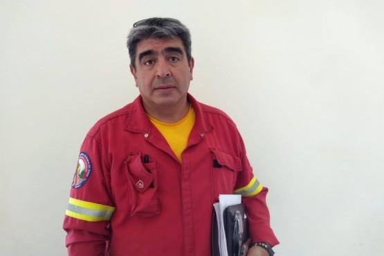 Abel Nievas, coordinador de operaciones del servicio provincial de manejo del fuego.