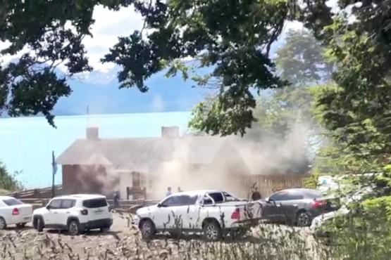 La cabaña se incendió el pasado domingo 19 de enero.