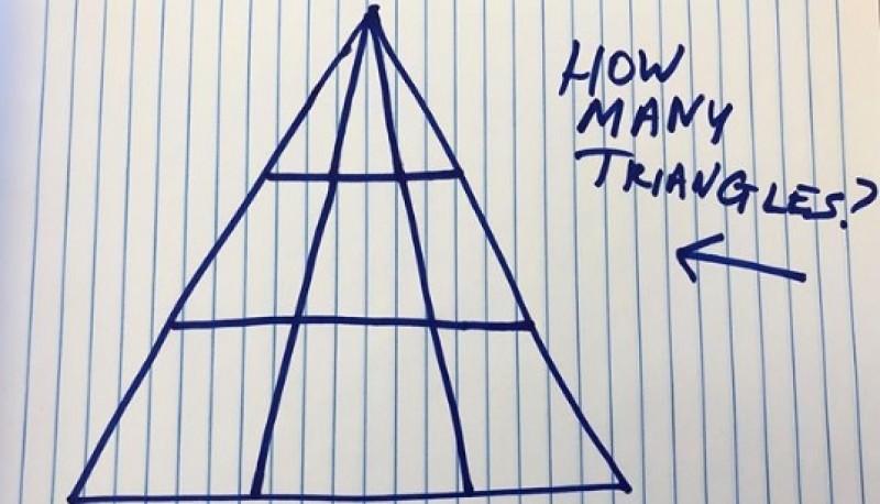 ¿Cuántos triángulos ves?