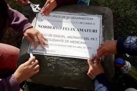 Reinstalaron la placa que recuerda a Norberto Amaturi