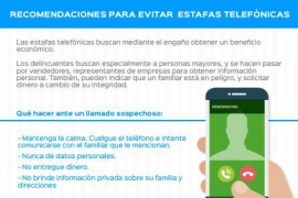 Las recomendaciones para evitar estafas telefónicas