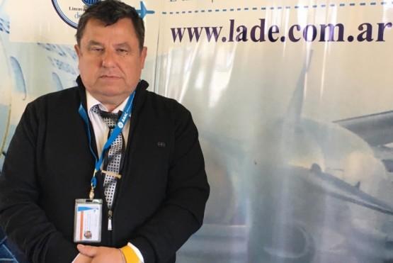 Juan Manuel Arregui es el jefe del aeropuerto de Puerto San Julián
