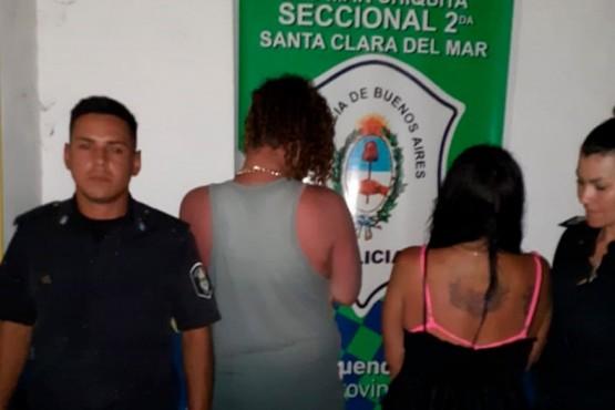 Los sujetos detenidos.