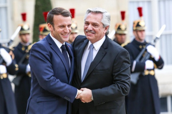 Emmanuel Macron y Alberto Fernández.