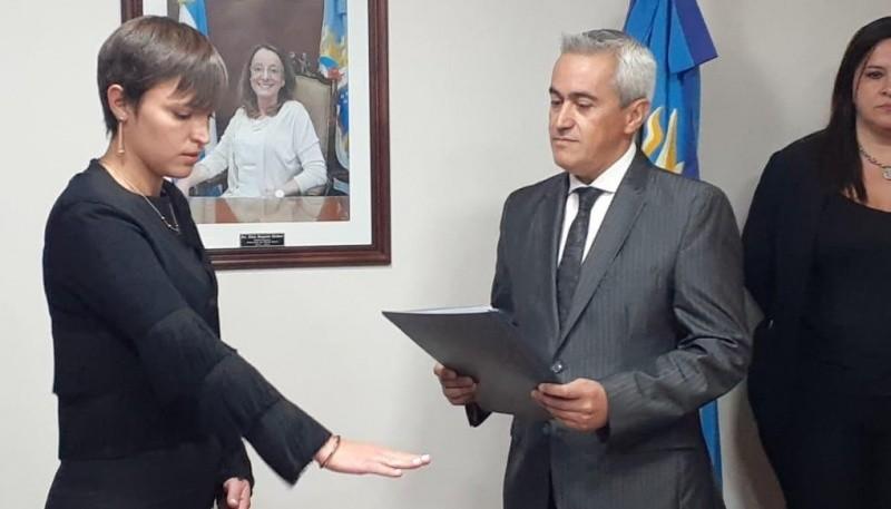 Yanina Gribaudo junto a Carlos Ramos.