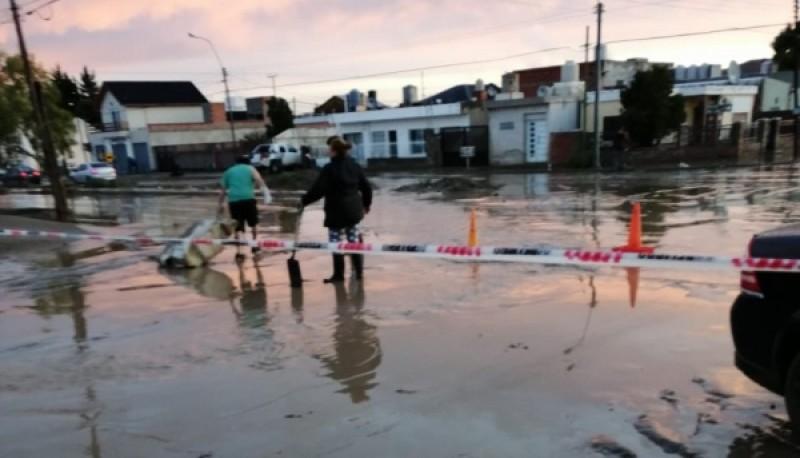 Aguas inundadas.