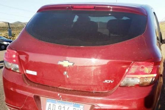 El auto secuestrado.