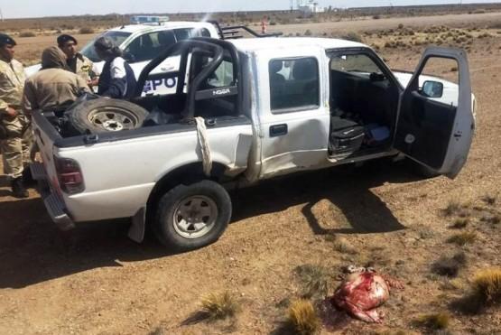 Camioneta secuestrada.