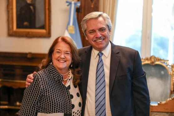 Castro junto al presidente Fernández.