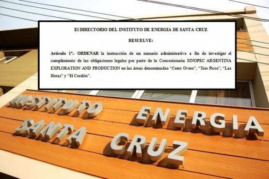 El Instituto de Energía acciona sobre las áreas de SINOPEC.