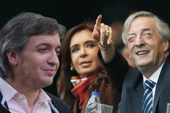 Máximo, Cristina y Néstor.