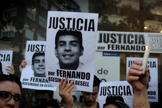 La marcha por Fernando. (Foto Página 12)