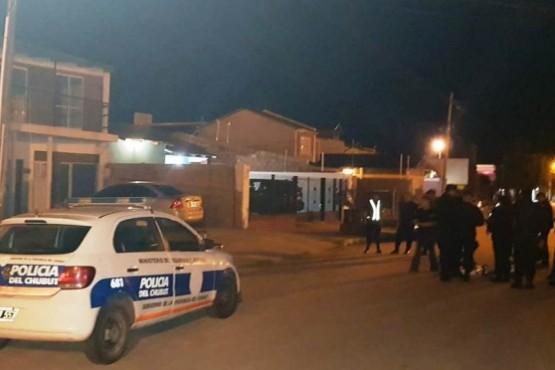 Policía del Chubut en Sarmiento.