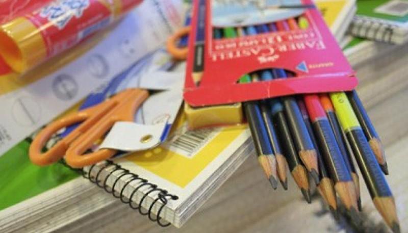 Los útiles de la canasta escolar.
