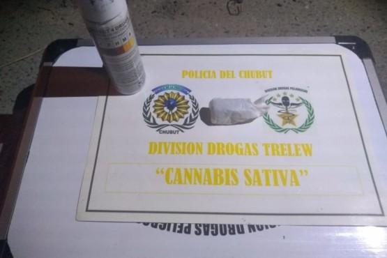 Policía de Chubut incauta droga.