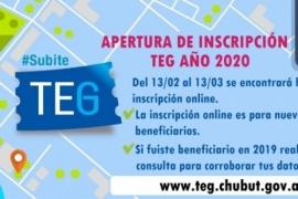 Comenzó inscripción online para nuevos beneficiarios del Transporte Educativo Gratuito